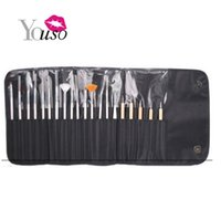 beautiful nail drills - 2016 New SET Nail Art Brush For Beautiful Nail Designs Painting Drill Point Pen Hook Flower PU Leather Nail Brush Pen Light Therapy