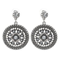 antique chandeliers cheap - New arrival hot sale cheap antique silver big round rhinestone drop earrings women fashion jewelry accessories