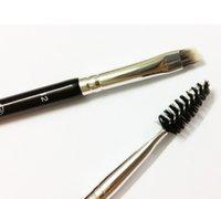 angled brush - Ana Brow Brushes Eyebrow Face Duo Brow Brushes Eyelash Comb Angled Cut Ana Cosmetics Spooley Eyebrow Brush Eyebrow Eyes Makeup Tools