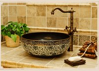 Wholesale Vintage wash basin The stage basin Ceramic art basin