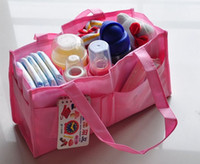 bag maternity - 3pcs Mummy Bag Bottle Storage Multifunctional Separate Bag Nappy Maternity diaper bag Handbag Baby Tote Diaper Organizer