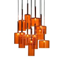 art design studios - Italy Design Spillray Pendant Lights Modern Minimalist Glass Art Lightings Axo Suspension Bar Office Studio lights