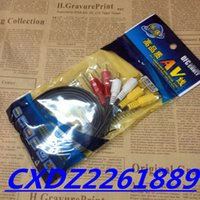 Wholesale 1 M FT high quality RCA TO RCA AUDIO video TV cable OD hot selling for