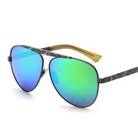 ape cat - 2016 European Retro Men s Sunglasses Metal Frame Ape Head Women Sunglasses Reflective Colorful Lens Frog Mirror Glasses UV400