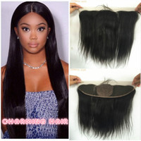 Wholesale Straight silk base Lace Frontal Closure With Baby Hair x4 Silk base Human Hair Full Lace Frontal Straight Top grade
