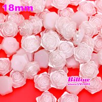 Wholesale Hot sale Rose Flower shape mm white Pearl For Nail Art phone Wedding Decoration garment accessories B1822