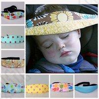 Wholesale 12 color KKA87 Safety Holder Belt Aid Car Seat Sleep Kids Head Support adjustable belt Head Holder Car Seat Support Protect Belt