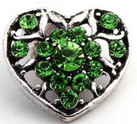 Wholesale Fashion MM Snap Buttons DIY Snap Button Noosa Chunks Leather Bracelet Mix Heart Styles Fit DIY Noosa Button Jewelry Charm Bracelets