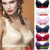 Wholesale New Arrivals Women Ladies Sexy Underwear Full Coverage Minimizer Non padded Lace Sheer Bra Bras NX62