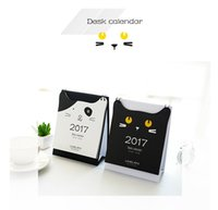 Wholesale Cute kitten calendar desktop calendar paper gift ideas kawaii best quality and new calendar hot sales with new year gifts