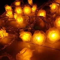 Wholesale Rose LED String Of Lights String Light Christmas Lights Decoration Lamp Lantern End Plug Meters lamps