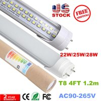 Wholesale 4ft led tube W W W Warm Cool White mm ft SMD2835 Super Bright Led Fluorescent Bulbs AC85 V CE SAA CSA UL