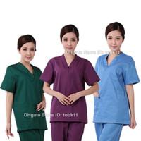 medical scrubs - uniformes hospital women medical clothing nursing scrubs clothes dental clinic beauty salon nurse surgical suit medical clothing