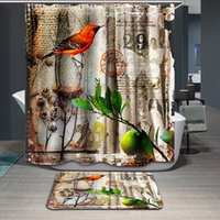Wholesale Classical Europe Style Printed Pattern Shower Curtains Bathroom Decor Polyester Frabic Eco Friendly Water Proof