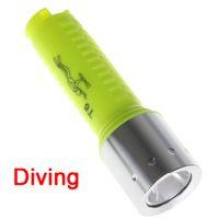 Wholesale Waterproof Yellow XM L T6 Lumens LED M Underwater Hiking Camping Diving Flashlight Torch K LEF_016
