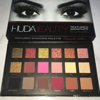 Wholesale 18 Colors Huda Beauty Eyeshadow Rose Gold Textured Pallete Make up Eye shadow Fashion Palette New Arrival