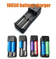 Wholesale Universal Chargers EU US Plug Li ion Battery chargers Adapter Double Slots Chargers for Rechargeable Battery