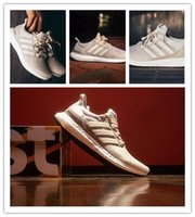 Wholesale 1 quality Ultra Boost LTD Cream man women shoes sneakers with box