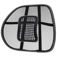 Wholesale Hot selling Black Mesh Hollow Breathable Message Seat Cushion Car Home Office chairs Lumbar Back Support