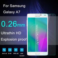 Écrans pour galaxie Prix-Haute Qualité Explosion Pro 0.26mm 2.5D en verre trempé Protecteur d'écran pour Samsung Galaxy A7 A7000 Film de protection FreeShipping