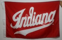 big banners - Indiana University Big Ten Conference NCAA Flag hot sell goods X5FT X90CM Banner brass metal holes IUH8