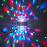 Wholesale Novelty Lighting LED Crystal Lamp Enabled LED Rotating Light RGB Full Color E27 RGB LED Bulbs Decoration Lighting Party Lights