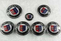 Wholesale 82mm mm mm mm M alpina AC Emblem Badge Hood Front Rear Trunk carbon black white for BMW E46 E39 E38 E90 E60 Z3 Z4