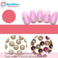 Wholesale Min order Japan Fashion mm Mix Color Alloy Nail Art Glitter Rhinestone Colorful Pearl Studs Decoration Tool DIY083