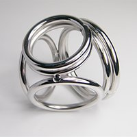 adult items - new items stainless steel cock four ring sex male penis rings metal delay ejaculation ring adult sex product