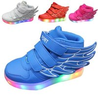 red wing boots - Kids Led Sneakers Kid Boy Girl Usb Charge Led Light Up Sneakers Athletic Shoes Dance Boot Eu Children Wings Sneakers Led Shoes