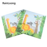 animal print napkins - RainLoong Beverage Paper Napkins Animal Festive Printed Serviettes Tissues Decoupage Table Decoration cm