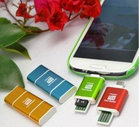 Wholesale Mobile otg reader on board computer memory card reader micro sd tf android usb flash drive