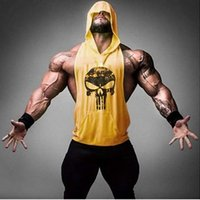 Wholesale Skull ZYZZ Golds Bodybuilding Stringer Hoodies Gym Stringer Hoodie Fitness Brand Tank Top Men Clothing Cotton Pullover Hoody