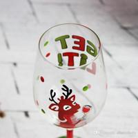 beautiful glass paintings - Hand painted beautiful red wine glass