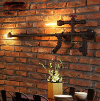 Wholesale Retro Industrial Gun Shape Water Pipe Wall Lamp Bar Bedroom Originality Light