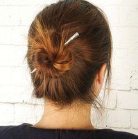 asian hair pins - hair pins Hot Sell Brief Gold Silver Plated Hair Sticks Brand New Fashion Women Alloy Metal Stick Hair Jewelry SHR438