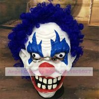 Wholesale Halloween Hairy Latex mask Fetish Latex mask of Wizard clown Oldman cosplay mask