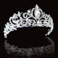 Wholesale Bridal Princess Austrian Stunning Crystal Hair Tiara Wedding Crown Veil Headband