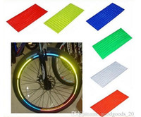 Wholesale Bicycle reflector Fluorescent Bike Bicycle Sticker Cycling Wheel Rim Reflective Stickers Decal Accessories Color b050