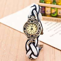 ancient knitting - Twist Braid Band Watches Colors Ancient Goddess Watches Korean Retro Female Knit Bracelet Watch For Women Ladies DHL