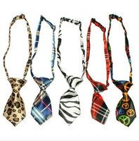 Wholesale Cute Handsome Adjustable Pet Teddy Cat Dog Bow Ties Necktie fashion style to match your puppy