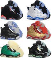 Wholesale basketball shoes men retro white black sports blue olympic slam dunk pack sport sneaker boots