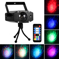 Wholesale Stage Ligting Remote W RGB LED Water Wave Ripple Effect Stage Light Laser Projector with Mini Stand for Party Show