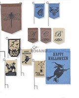 ad cm - Fedex DHL Burlap Garden Flags quot Wx18 quot H DIY Jute Liene Yard House Decorative Hanging Flag Courtyard Printed Ads Flags L11 M