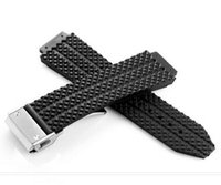 Wholesale AUTO HUBBANDS buckle mm Watch Bands for Big Bang HUB Straps Rubber Silicone Stick Folding Clasp for HUB H Big Tool