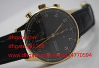 big rose quartz - 2016 Mens Top Wristwatch HOT Power Reserve Big Pilot black dial Chronograph Rose Gold Watch Men Men s Quartz Sports Watches