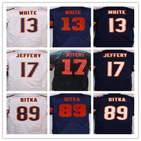 Wholesale 2016 Sticthed Rugby Fotball jerseys Elite Kevin White Alshon Jeffery Mike Ditka Good wihie blue Mix Order