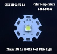 Wholesale 5pcs CREE XM L2 U2 U3 mm LM W A Cool White Light Beads LED Emitter Bulb Flashlights Torch