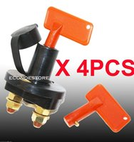 Wholesale Disconnect Kill Solid Brass w Removable Key quot X quot Studs Auto Battery Cut Off Switch