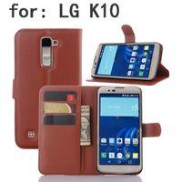al hot - Hot LG K10 phone case business black leather case folio book cover wallet stander case for LG G5 G4 Stylus LG Class Leon Sony HTC Samsung Al